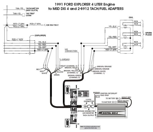 small resolution of ford 91 explorer 4l dis 4 with 8912s holley blog perma cool wiring diagram msd dis 4 wiring diagram