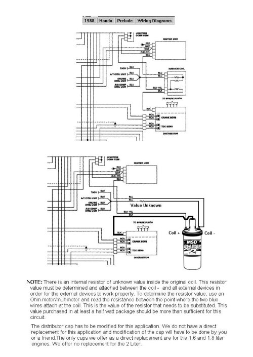small resolution of 88 prelude blaster ii coil holley blogblog diagrams and drawings 6 series honda 88 prelude blaster ii coil jpg this diagram illustrates how to install a