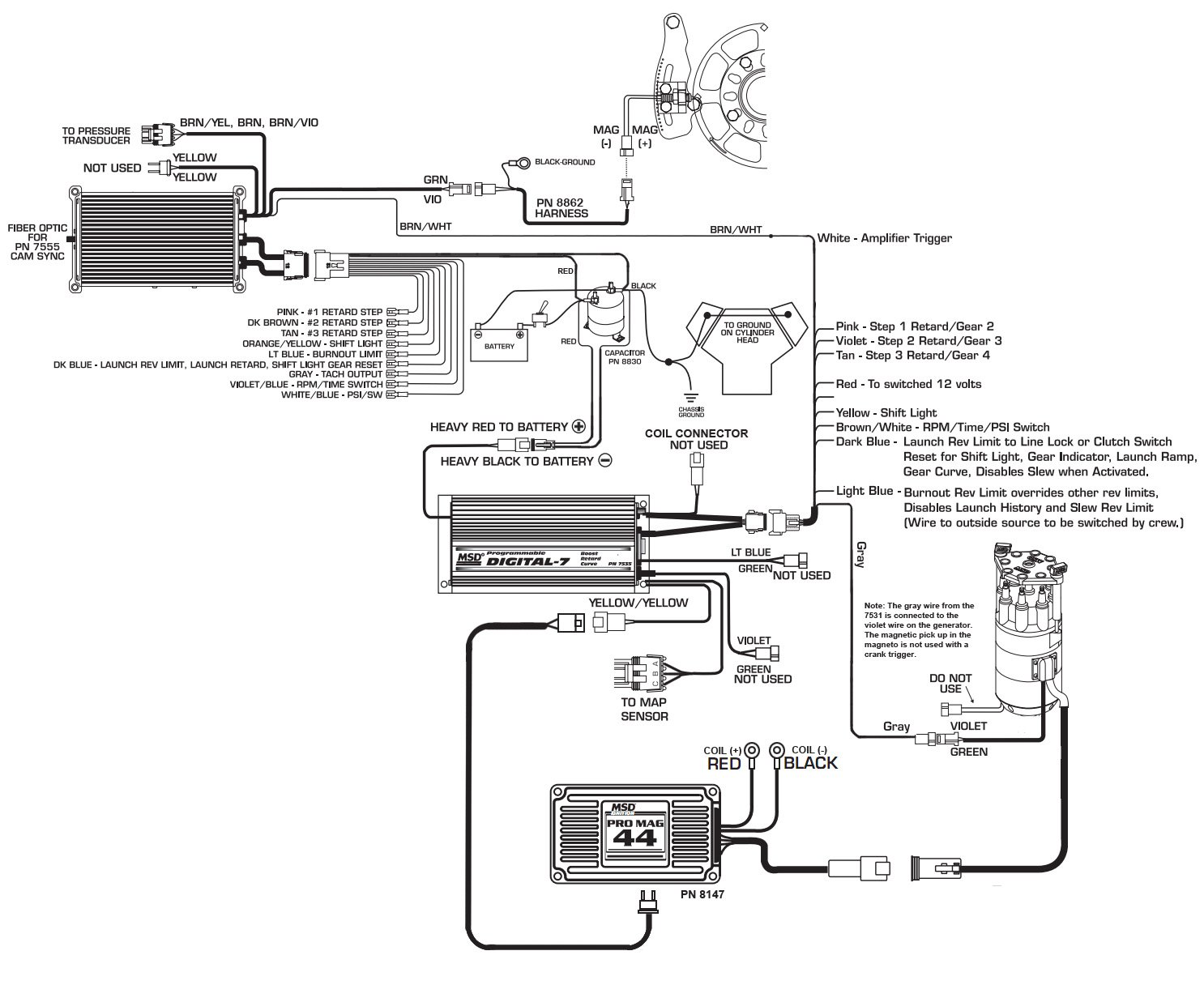 hight resolution of 8973 to 7531 pro mag reva holley blogmsd promag wiring diagram 5