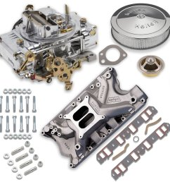 vk060064 750 cfm 0 80508s carburetor and ford 351w intake manifold combo image [ 1500 x 1500 Pixel ]