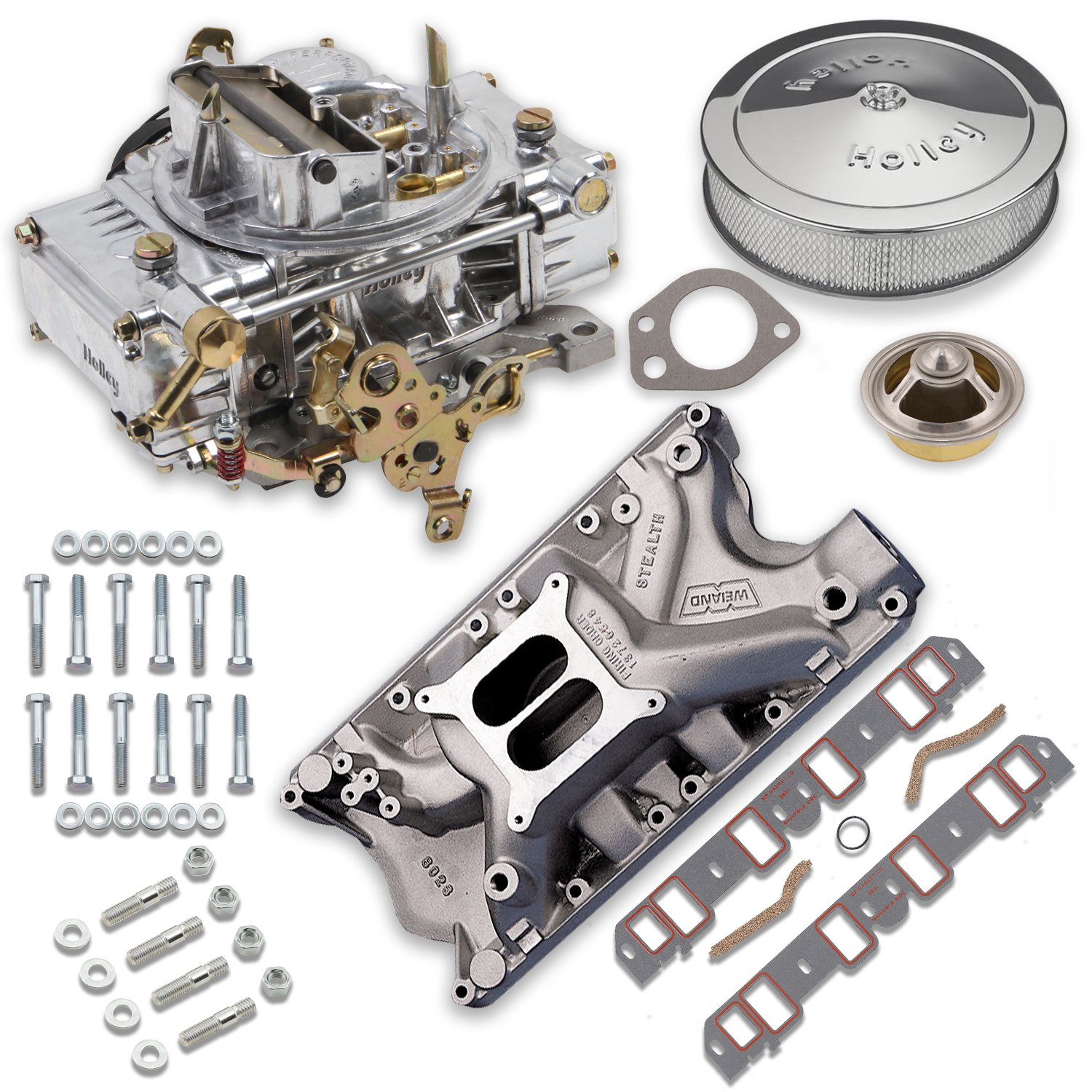 hight resolution of vk060064 750 cfm 0 80508s carburetor and ford 351w intake manifold combo image