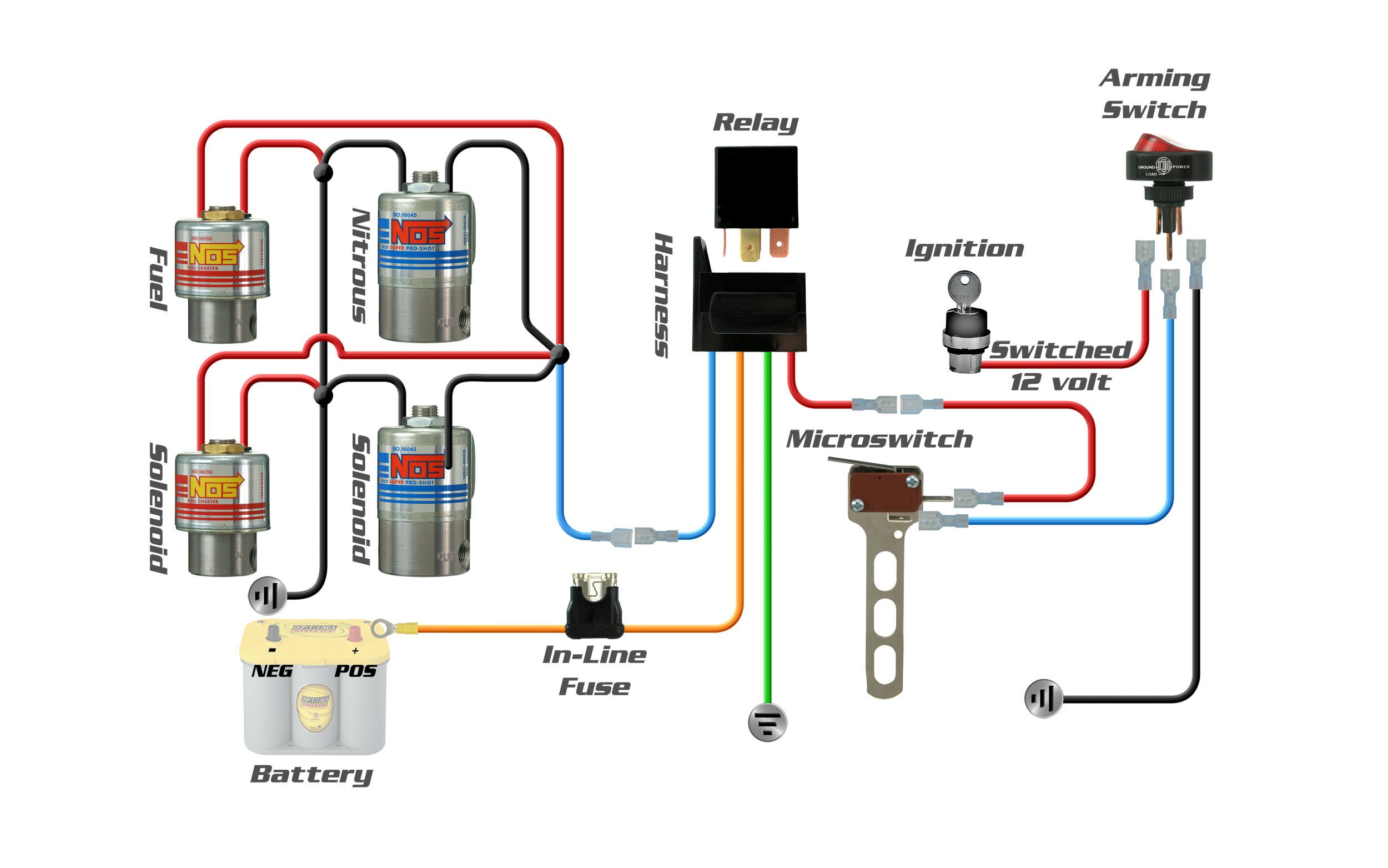 nitrous oxide wiring diagram wire two way switch light 2 nos installation and tuning videos holley blog