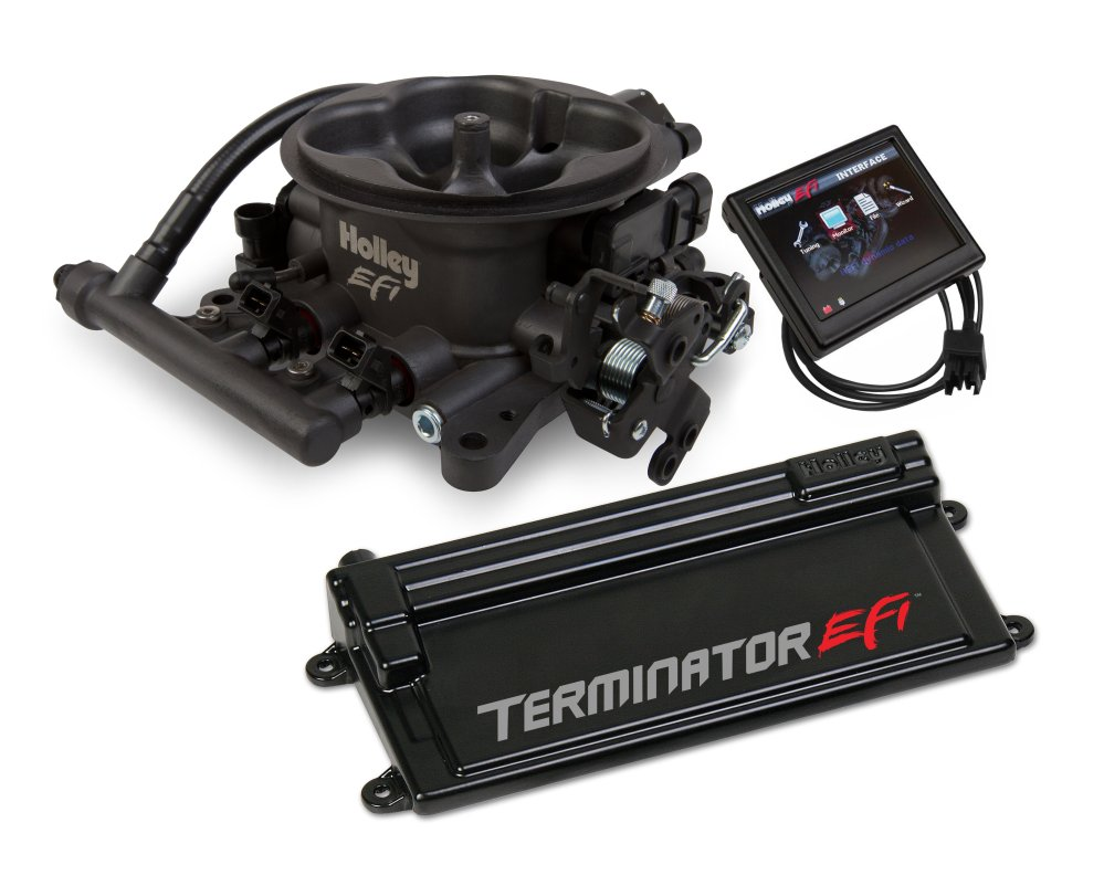 medium resolution of terminator efi 4 bbl kit w transmission control hard core gray