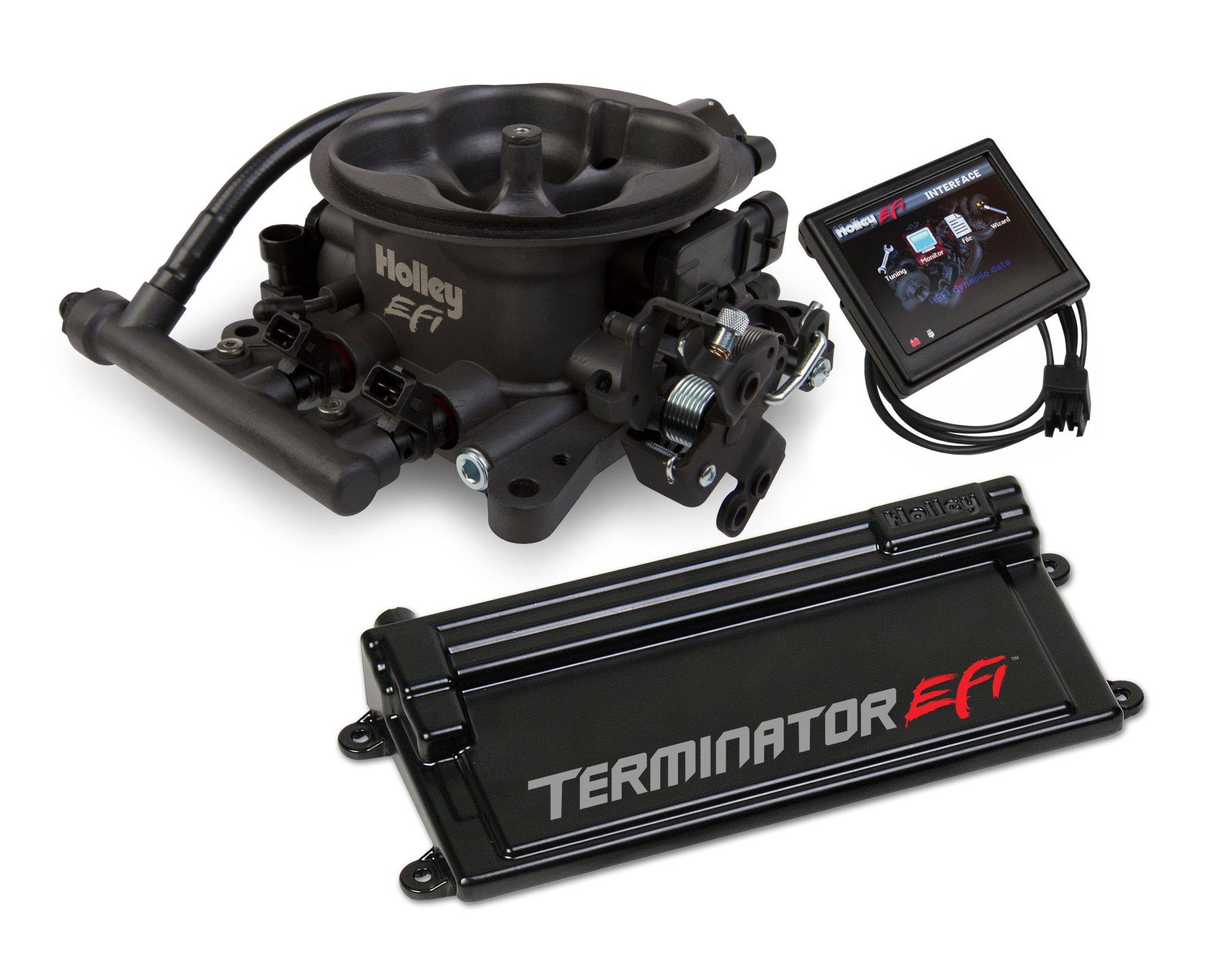 hight resolution of terminator efi 4 bbl kit w transmission control hard core gray