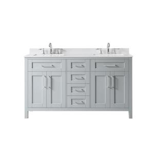 Gray 60 Inch Vanities Bathroom Vanities Bath The Home Depot