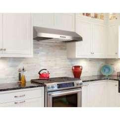Kitchen Hood Vent Utensil Holders Under Cabinet Range Hoods The Home Depot In Stainless Steel With Led Light