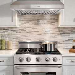 Kitchen Range Hoods Towel Rack Ducted Appliances The Home Depot Under Cabinet Hood In Stainless Steel With Led Lighting And Permanent