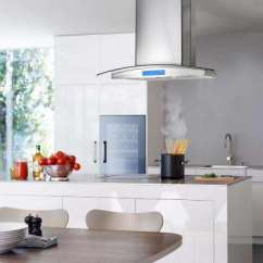 Island Kitchen Hood Counter Height Table Set Cosmo Range Hoods The Home Depot Ductless In Stainless Steel With Led Lighting And Carbon Filter