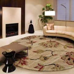 Round Area Rug In Living Room Modern Furniture Cheap Rugs The Home Depot Como Bisque 8 Ft