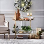 Holiday Glam Bar Cart Shop By Room The Home Depot