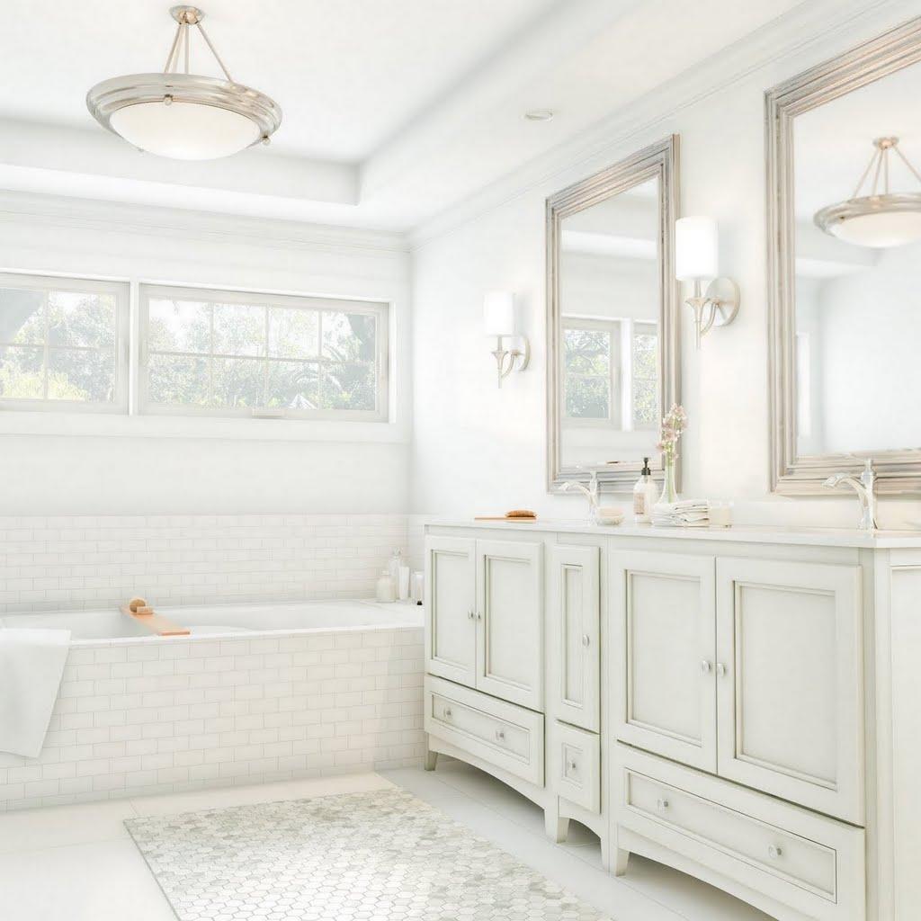 Bright White Master Bath  Bathroom  The Home Depot