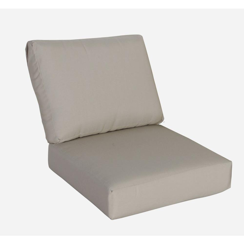 replacement cushions for sleeper sofa cleo loafer large hampton bay mill valley 26 x outdoor armless section cushion in standard beige