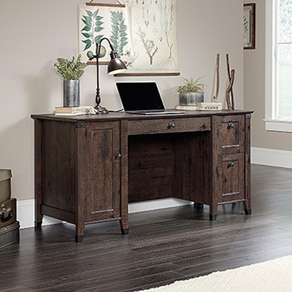 SAUDER Carson Forge Coffee Oak Computer Desk422350  The