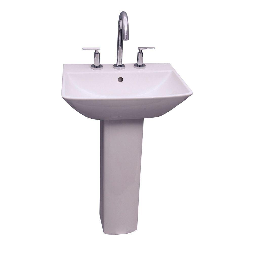 Kokols Parada Pedestal Combo Bathroom Sink in ClearWF41  The Home Depot
