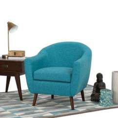 Aqua Accent Chair Swivel-ease Xtreme Muddy Solid Blue Parsons Chairs The Home Depot Roundstone Fabric Arm