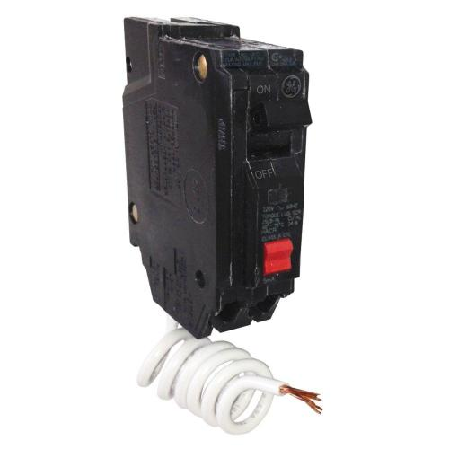 small resolution of ge 20 amp single pole ground fault breaker with self test thql1120gftp the home depot