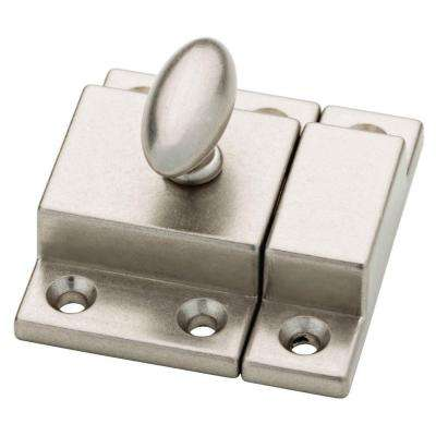 kitchen cabinet latches island kits hardware the home depot bedford nickel matchbox door latch