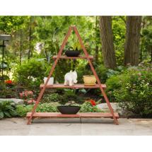 Leisure Season 53 In. X 48 Wooden Ladder Plant