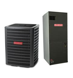 goodman 2 ton 14 seer 23600 btu r410a variable speed split system central air conditioning system [ 1000 x 1000 Pixel ]