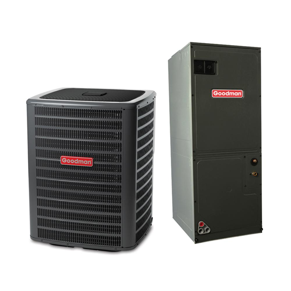 medium resolution of goodman 2 ton 14 seer 23600 btu r410a variable speed split system central air conditioning system