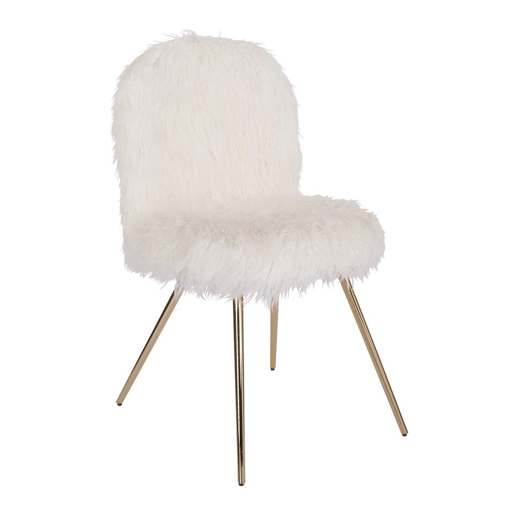 white and gold chair double wide ave six julia fur with legs jla f42 the home depot