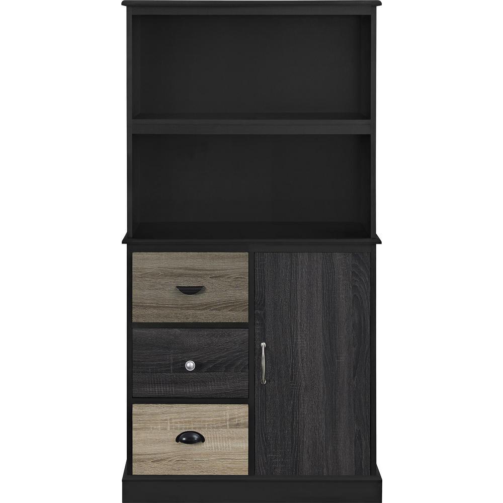 Ameriwood Home Newbridge Black Storage Bookcase with