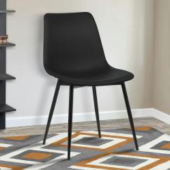 Modern Chair Design Dining Unusual Sashes Armen Living Monte 32 In Black Faux Leather And Powder Coated Finish Contemporary