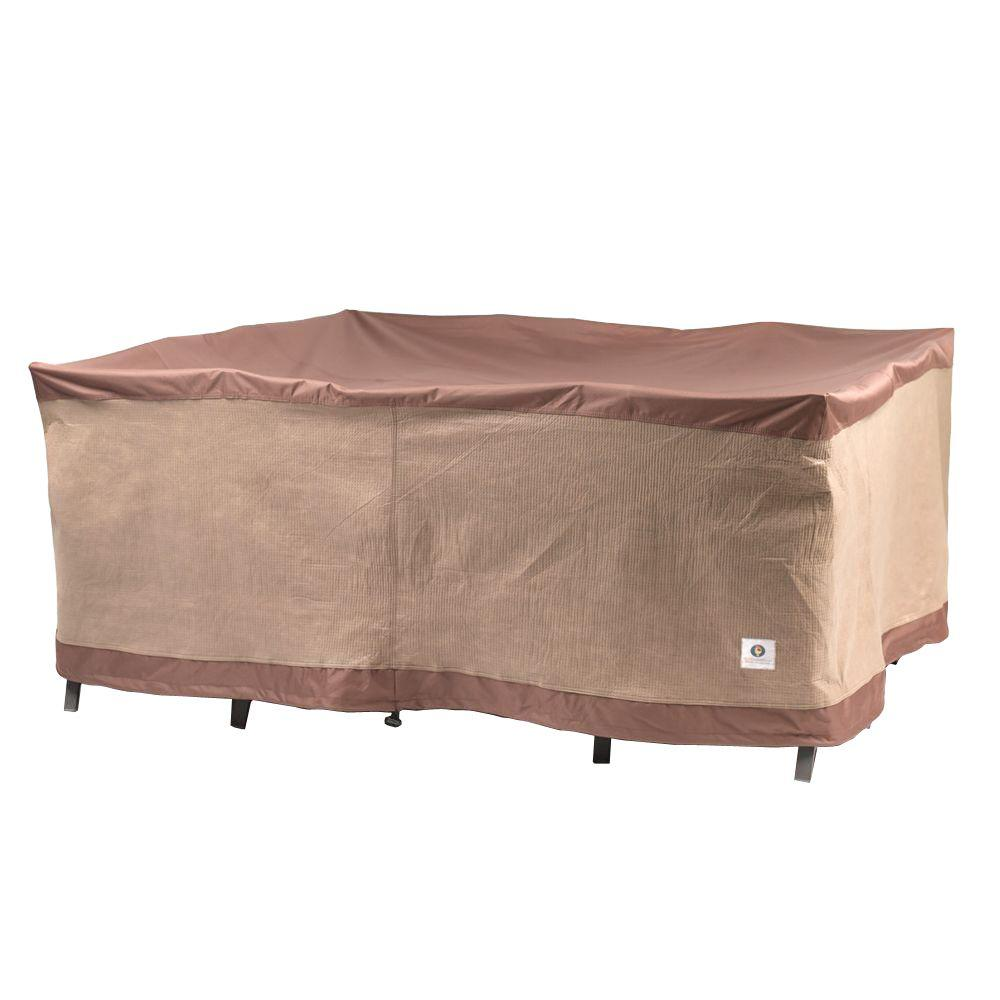 Duck Covers Ultimate 76 in Square Patio Table and Chair Set CoverUTS07676  The Home Depot