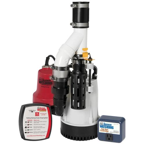 small resolution of 1 3 hp combination unit with emergency backup sump pump system