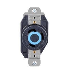 leviton 30 amp 250 volt 3 wire locking single outlet black [ 1000 x 1000 Pixel ]