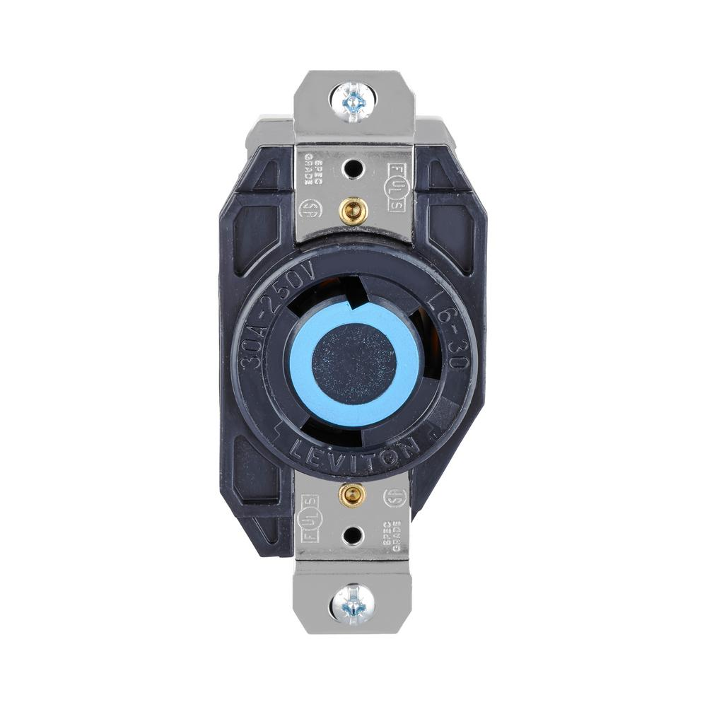 medium resolution of leviton 30 amp 250 volt 3 wire locking single outlet black