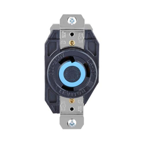 small resolution of leviton 30 amp 250 volt 3 wire locking single outlet black