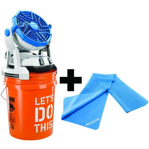 Arctic Cove 18-volt Bucket Top Misting Fan And Cooling