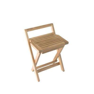 folding chair for bathroom 2 x 4 rocking foldable freestanding shower chairs stools w seat with handle in natural teak