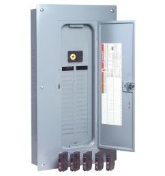 qo 100 amp 32 space 32 circuit indoor main breaker load center with cover [ 1000 x 1000 Pixel ]