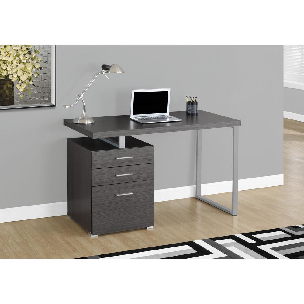 Monarch Specialties Gray Desk with File CabinetI 7426
