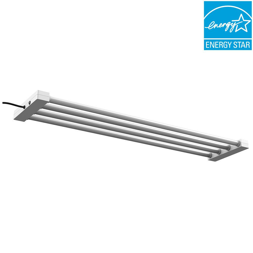 4 ft. 4-Light 76-Watt White Integrated LED Utility Shop