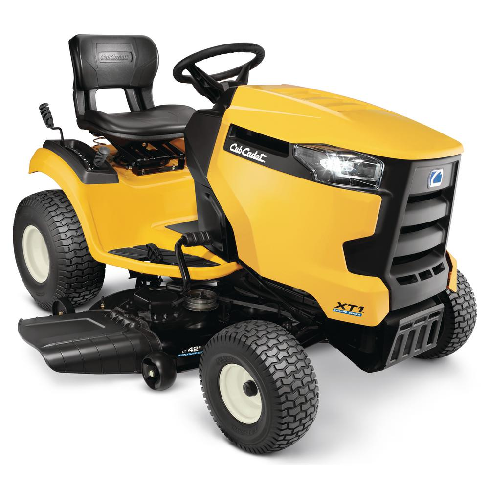 medium resolution of cub cadet xt1 enduro series lt 42 in 18 hp kohler hydrostatic gas front engine riding lawn tractor