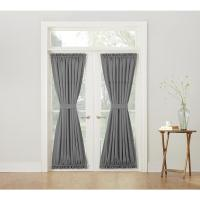 Sun Zero Semi-Opaque Gregory Grey Room Darkening Door ...