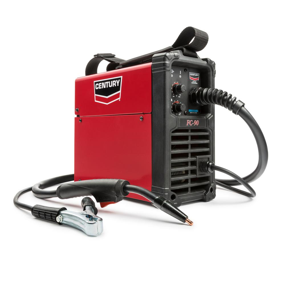 medium resolution of century 90 amp fc90 flux core wire feed welder and gun 120v k3493 1 the home depot