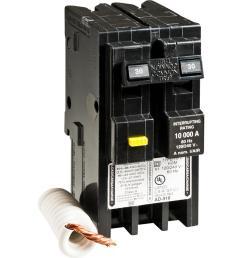 square d homeline 30 amp 2 pole gfci circuit breaker [ 1000 x 1000 Pixel ]