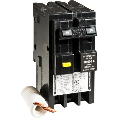 small resolution of square d homeline 30 amp 2 pole gfci circuit breaker