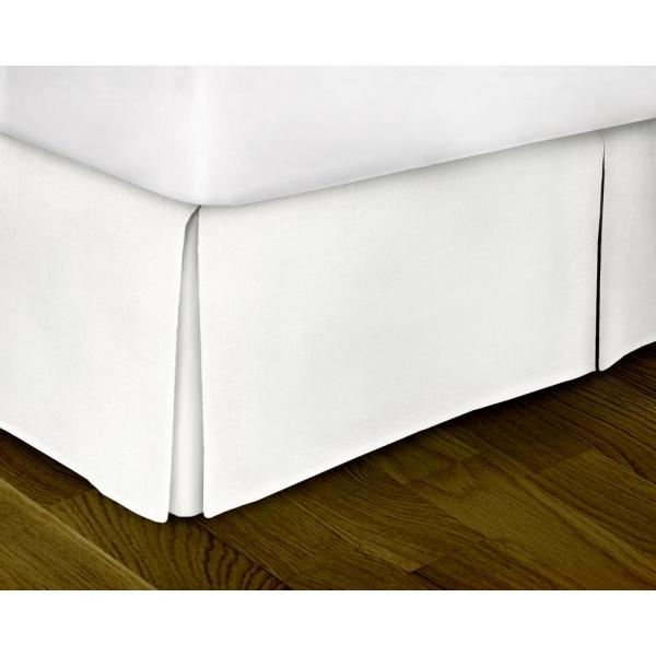 Rizzy Home White Solid Pattern Twin Bed Skirt-sktbt1081wh003976 - Depot