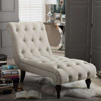 lounge chair living room furniture leather chaise chairs the home depot layla traditional beige fabric upholstered