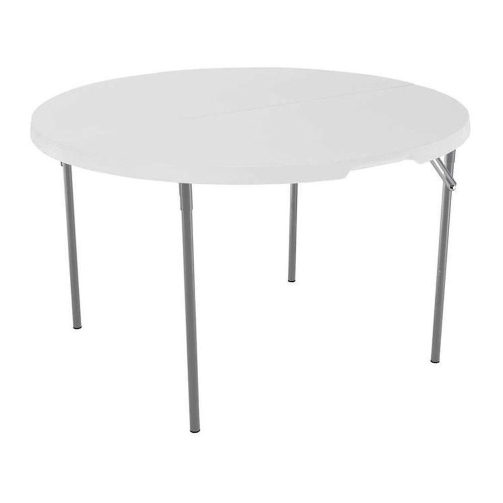 round table and chairs high back oak dining lifetime 48 in white granite fold half 280064 the