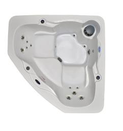 home and garden spas 3 person 14 jet corner hot tub spa with led lighting [ 1000 x 1000 Pixel ]