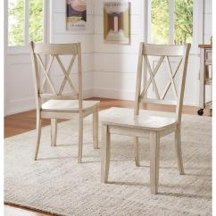 Antique White Dining Chairs Used Ebay Homesullivan Sawyer Wood X Back Chair Set Fo 2