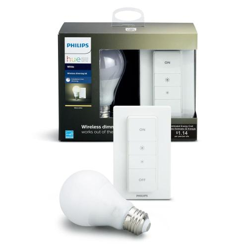 small resolution of hue smart wireless dimming kit 1 a19 led 60w equivalent warm white bulb and