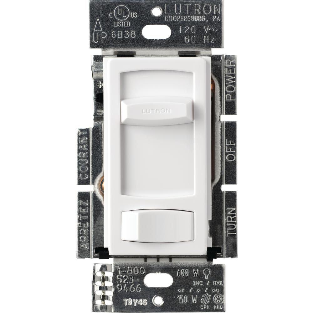 hight resolution of lutron skylark contour c l dimmer switch for dimmable led halogen and incandescent bulbs single