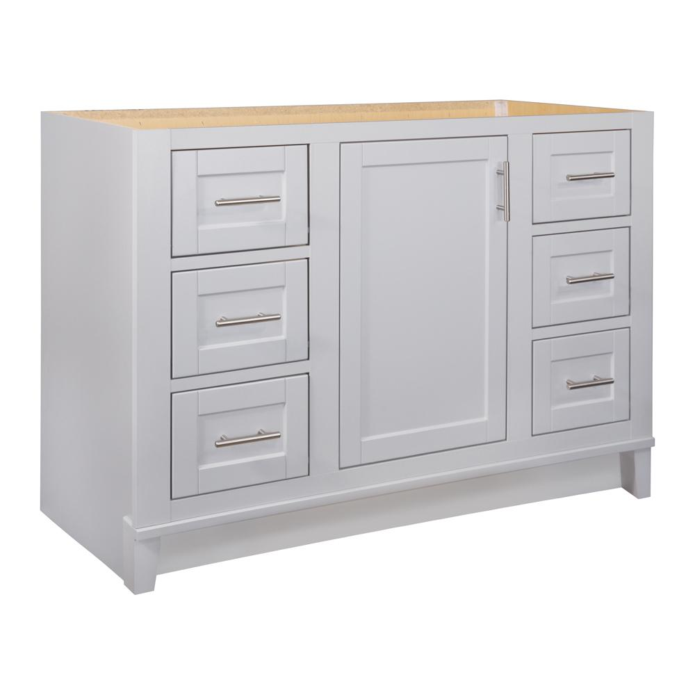 48 Bathroom Vanity Cabinet Glacier Bay Kinghurst 48 In W X 21 In X 33 5 In H D Bathroom Vanity Cabinet Only In Dove Gray